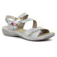 sandales rose multi: même style de chaussures en ligne pour femmes que les Rieker