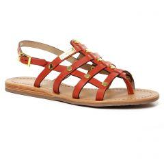 sandales rouge brique: même style de chaussures en ligne pour femmes que les Les Tropéziennes