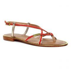 sandales rouge doré: même style de chaussures en ligne pour femmes que les Les Tropéziennes