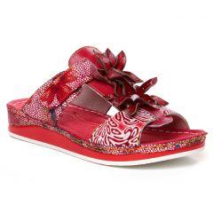 Chaussures femme été 2020 - sandales Laura Vita rouge