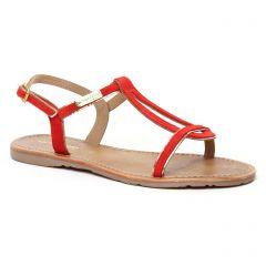 Chaussures femme été 2020 - sandales les tropéziennes rouge corail