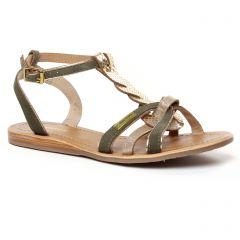 Chaussures femme été 2020 - sandales les tropéziennes vert kaki doré
