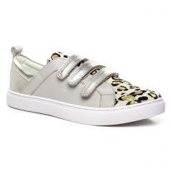 Chaussures femme été 2020 - tennis Émilie Karston beige or léopard