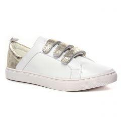 Chaussures femme été 2020 - tennis Émilie Karston blanc bronze