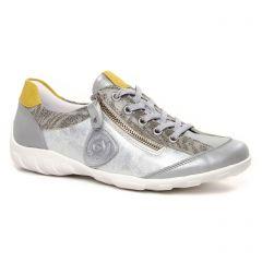 tennis blanc argent: même style de chaussures en ligne pour femmes que les Remonte