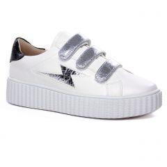 tennis blanc argent: même style de chaussures en ligne pour femmes que les Vanessa Wu