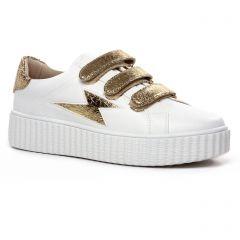 tennis blanc doré: même style de chaussures en ligne pour femmes que les Vanessa Wu
