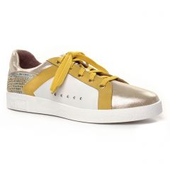 Chaussures femme été 2020 - tennis Mamzelle blanc jaune
