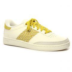 Chaussures femme été 2020 - tennis N'go blanc jaune