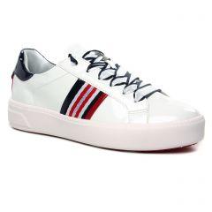 tennis blanc multi: même style de chaussures en ligne pour femmes que les Tamaris