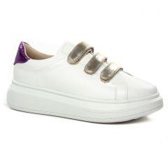 Vanessa Wu Bk2113 Blanc : chaussures dans la même tendance femme (tennis blanc or) et disponibles à la vente en ligne