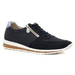 tennis bleu blanc: même style de chaussures en ligne pour femmes que les Tamaris