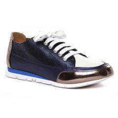Chaussures femme été 2020 - tennis Émilie Karston bleu or