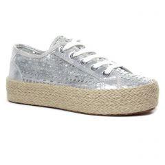 tennis-plateforme gris argent: même style de chaussures en ligne pour femmes que les Vanessa Wu