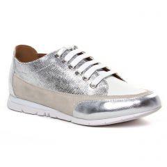 Chaussures femme été 2020 - tennis Émilie Karston gris argent