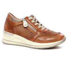 tennis-plateforme marron: même style de chaussures en ligne pour femmes que les Remonte