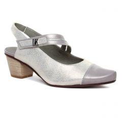 Chaussures femme été 2020 - escarpins trotteur Dorking gris argent