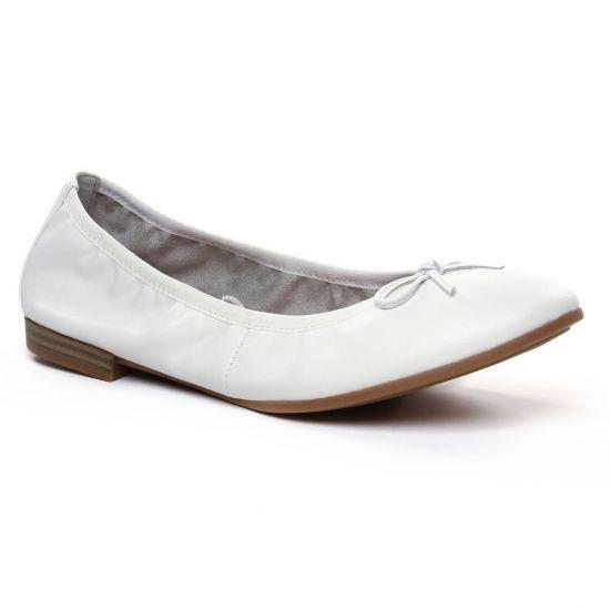 Ballerines Tamaris 22116 White, vue principale de la chaussure femme