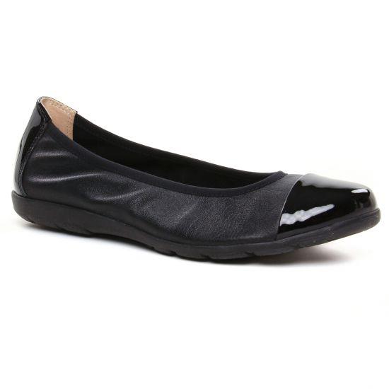 Ballerines Caprice 22152 Black Nap Pat, vue principale de la chaussure femme