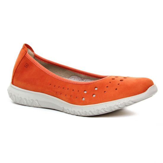 Ballerines Dorking Silver D8228 Orange, vue principale de la chaussure femme