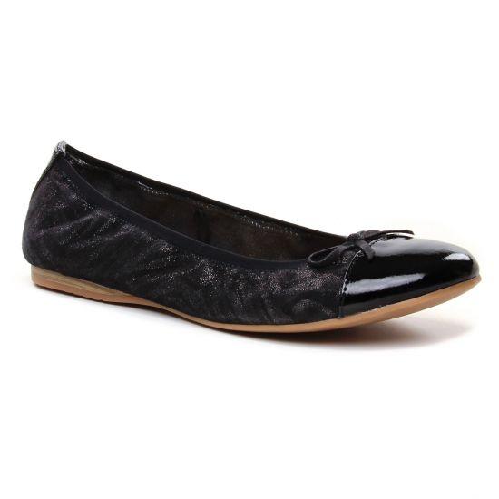 Ballerines Tamaris 22129 Black Struct, vue principale de la chaussure femme