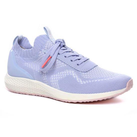 Tennis Et Baskets Mode Tamaris 23714 Powder Blue, vue principale de la chaussure femme