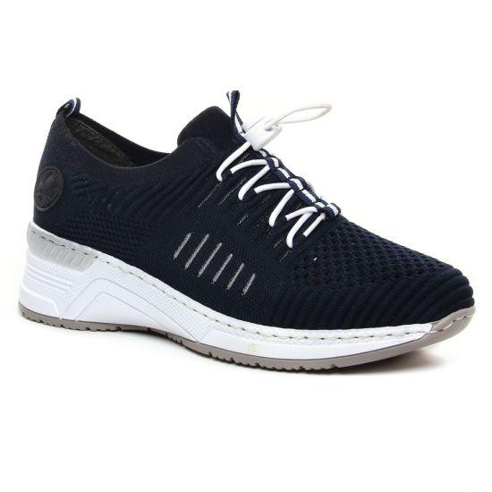 Tennis Et Baskets Mode Rieker N4360-14 Navy, vue principale de la chaussure femme