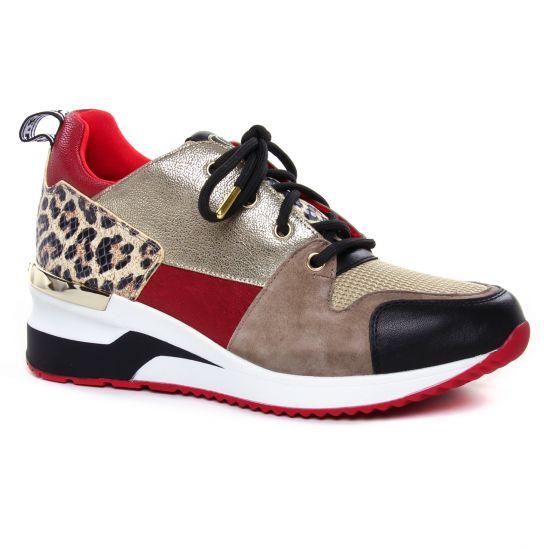 Tennis Et Baskets Mode Mamzelle Vrille Rouge, vue principale de la chaussure femme
