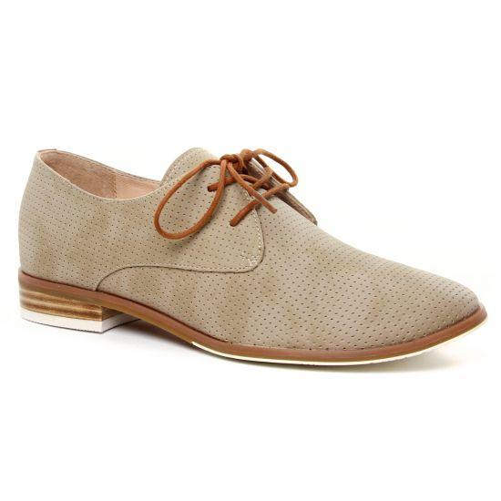Chaussures À Lacets Fugitive Helen Taupe, vue principale de la chaussure femme
