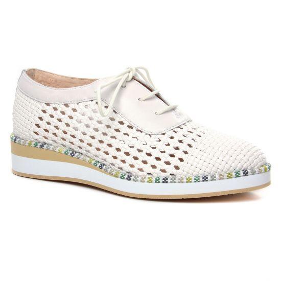 Chaussures À Lacets Fugitive Keira Blanc, vue principale de la chaussure femme