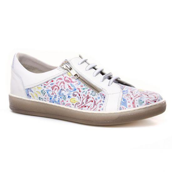 Chaussures À Lacets Dorking Karen D8225 Blanc, vue principale de la chaussure femme