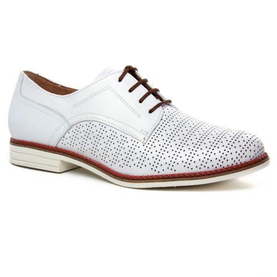 Chaussures À Lacets Tamaris 23200 White Cognac, vue principale de la chaussure femme