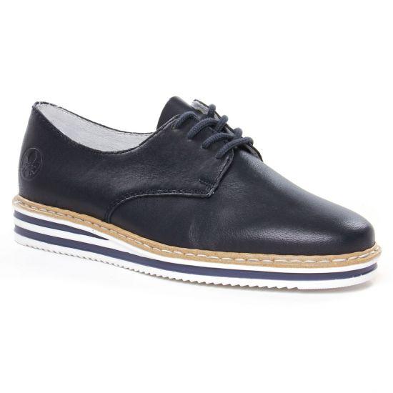 Chaussures À Lacets Rieker N0210-14 Navy, vue principale de la chaussure femme