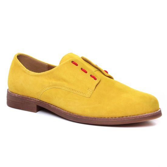 Chaussures À Lacets Emilie Karston Acinda Ocre, vue principale de la chaussure femme