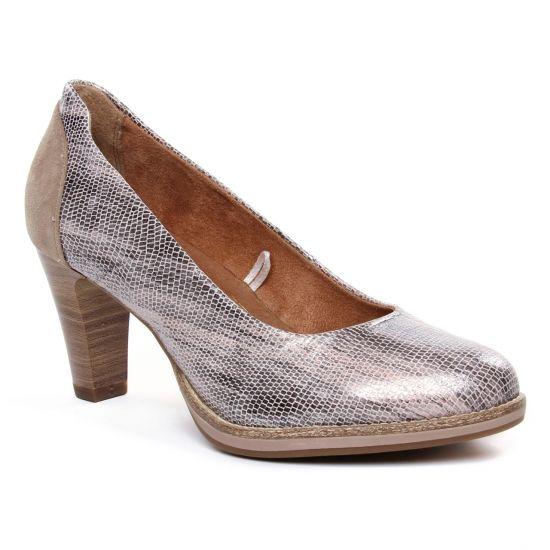 Escarpins Tamaris 22425 Platinum Str, vue principale de la chaussure femme