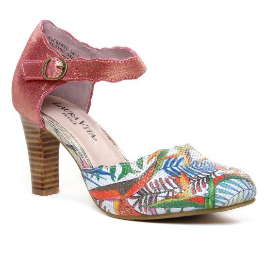Escarpins Laura Vita Alcbaneo 54 Corail, vue principale de la chaussure femme