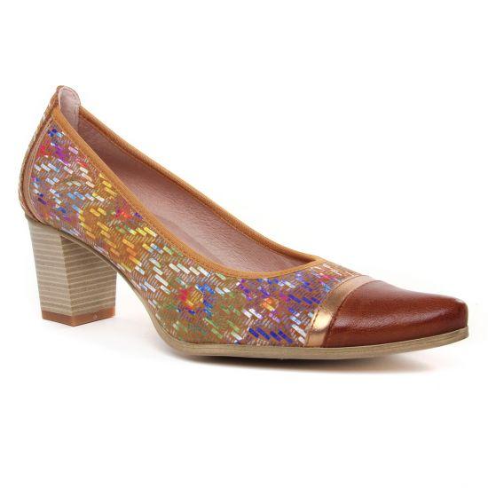 Escarpins Dorking Lea D8139 Whisky, vue principale de la chaussure femme