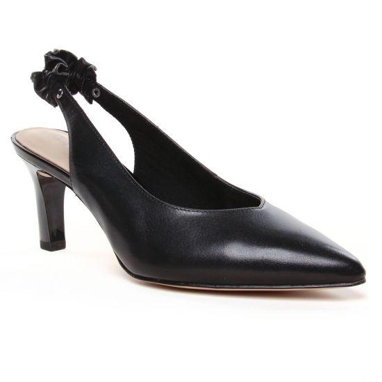 Escarpins Tamaris 29602 Black Leather, vue principale de la chaussure femme