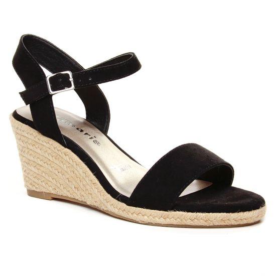 Espadrilles Tamaris 28300 Black, vue principale de la chaussure femme