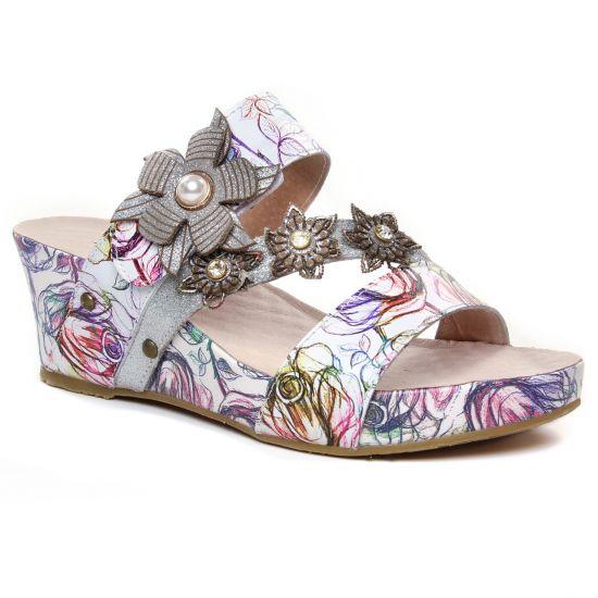 Nu Pieds Et Sandales Laura Vita Facdiao 26 Blanc, vue principale de la chaussure femme