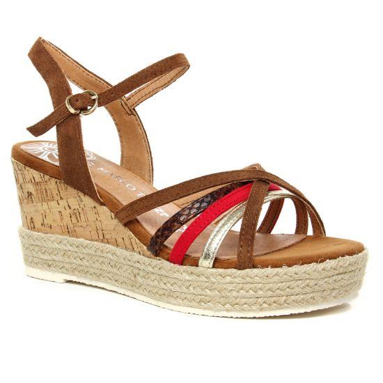 Nu Pieds Et Sandales Marco Tozzi 28396 Cognac Comb, vue principale de la chaussure femme