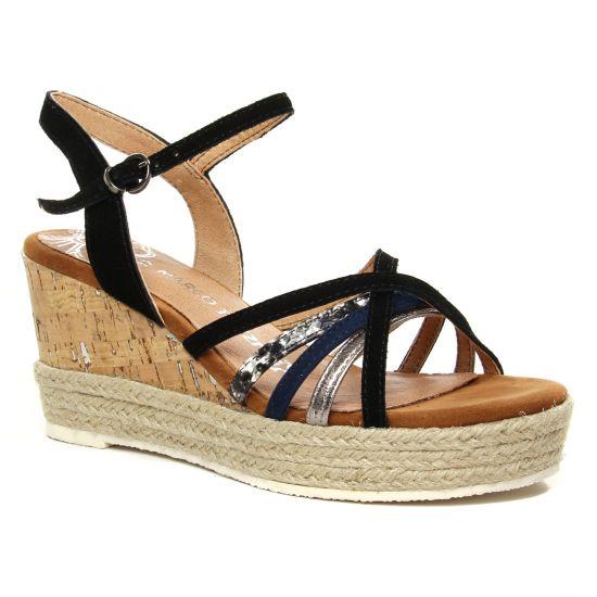 Nu Pieds Et Sandales Marco Tozzi 28396 Black Comb, vue principale de la chaussure femme