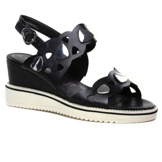 Nu Pieds Et Sandales Tamaris 28053 Black, vue principale de la chaussure femme