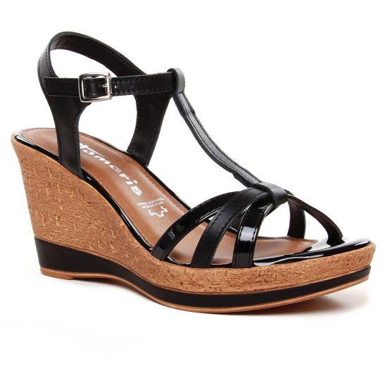 Nu Pieds Et Sandales Tamaris 28347 Black, vue principale de la chaussure femme