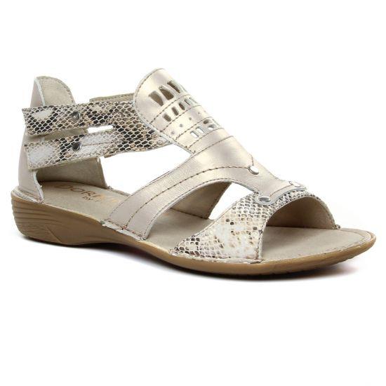 Nu Pieds Et Sandales Dorking Oda D6769 Naturel, vue principale de la chaussure femme