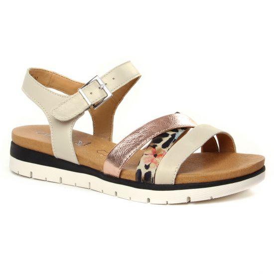 Nu Pieds Et Sandales Caprice 28603 Beige Leo Comb, vue principale de la chaussure femme