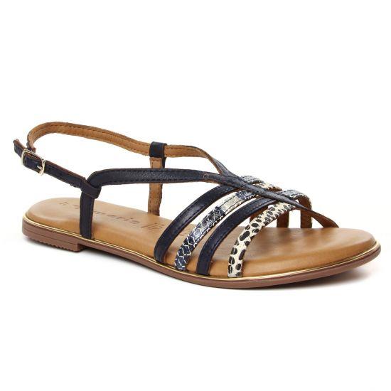 Nu Pieds Et Sandales Tamaris 28157 Navy Comb, vue principale de la chaussure femme