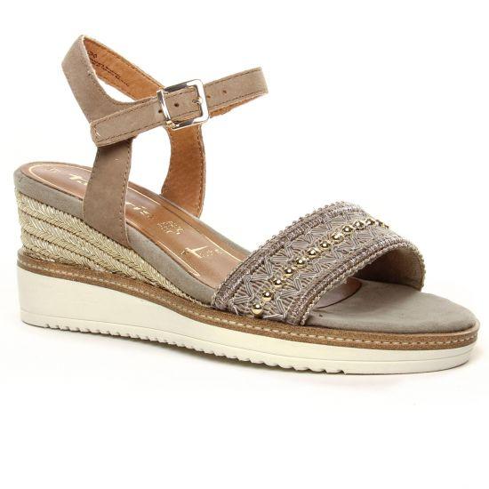 Nu Pieds Et Sandales Tamaris 28243 Mud Suede, vue principale de la chaussure femme