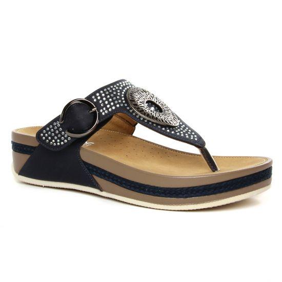 Nu Pieds Et Sandales Rieker V1460-14 Pazifik, vue principale de la chaussure femme