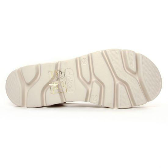 Rieker V7371 90 Ice Multi | sandale compensées gris multi